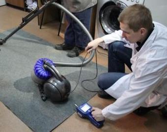 Сравнительные испытания пылесосов на «выброс пыли» с использованием портативного счётчика аэрозольных частиц