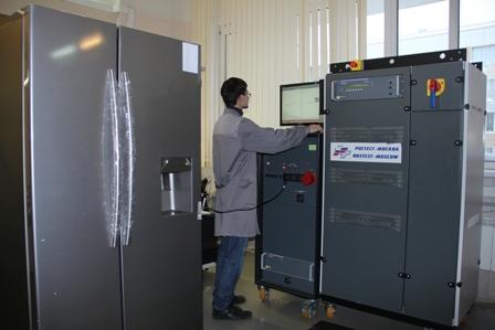 Испытания холодильника на эмиссию гармонических составляющих тока.JPG