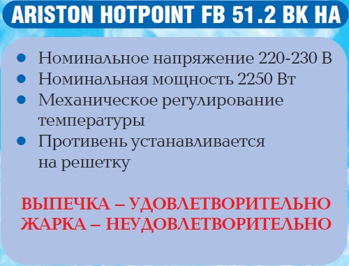 Жарочный шкаф Ariston hotpoint FB 51.2 BK HA